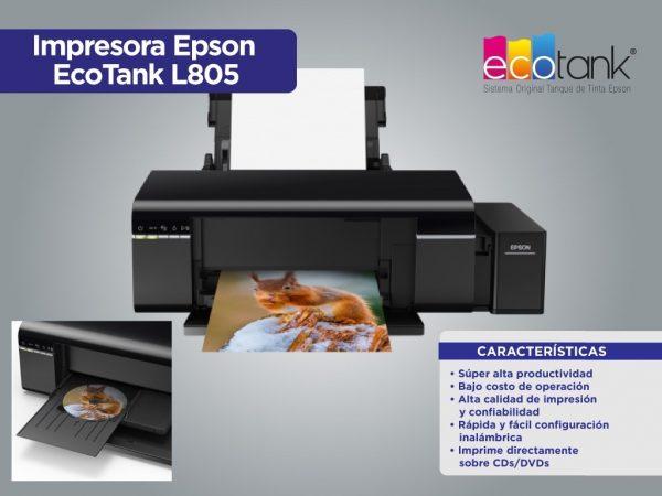 impresora epson l805 ink color