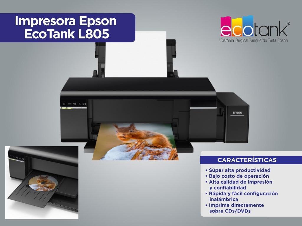 impresora-tanque-de-tinta-epson L805 para imprimir CDs/Dvd